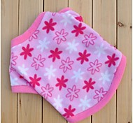 Pink Fleeces Flowers Winter Shirts for Pets Dogs (Assorted Sizes)