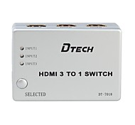 DTECH® HDMI Switch 3 to 1 Support CEC Function