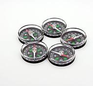 Outdoors Plastic Black Compass 5pcs