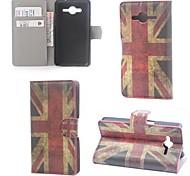 uk Flagge Muster Leder mit Stand und Kartenslot für Samsung Galaxy Core 2 g355h