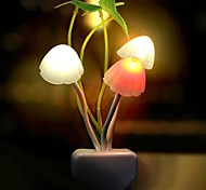 With Light Sensor LED Color Change Transparent Mushrooms Shaped Mini Light Christmas Props