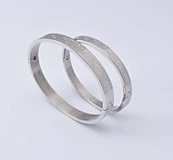 Fashion Rose 316L Stainless Steel Couple Bangle