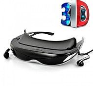 GLOWOR 80'' Virtual Display Digital 3D Video Glasses HMD Goggles with AV-IN and 4GB Memory
