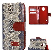 Retro Design Pattern PU Leather Full Body Cover with Card Slot for Samsung Galaxy S5 I9600