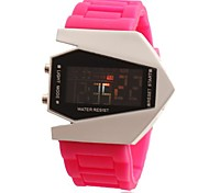 Women's Aircraft Style Multi-Functional Digital Wrist Watch (Assorted Colors)