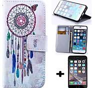 бумажник стиль перезвон ветра пу кожаный чехол для всего тела с защитой экрана для IPhone 6