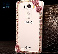 DIY Exquisite Bowknot with Rhinestones Pattern Plastic Hard Case for LG G3  (Assorted Color)