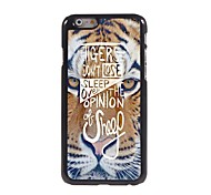 Tiger Face Pattern Aluminum Hard Case for iPhone 6