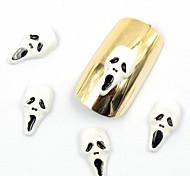 50PCS 3D False Nail Designs Halloween Nail Designs Skull for Acrylic Nail Tips False Nail Art Decorations