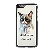 Angry Cat Pattern Aluminum Hard Case for iPhone 6 Plus