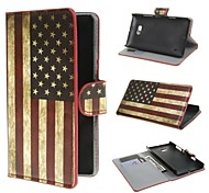 American USA Flag PU Leather Wallet Cover Case with Stand and Card Slot for Nokia Lumia 930