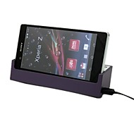 ambiente de trabalho dk26 roxo doca de carregamento carregador estande para Sony Xperia z / lt36h