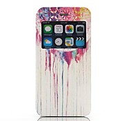 Colorful Ink Pattern One Window Clamshell PU Leather Full Body Case for iPhone 6