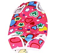 Lovely Love Pattern Backpack with Basket for Pets Dogs