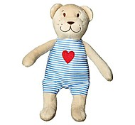 10inch Bear Doll with Heart on Shirt Valentine Stuffed Animal Piggy Plush Toy
