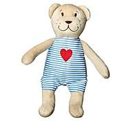 10inch Bear Doll with Heart on Shirt Valentine Stuffed Animal Piggy Plush Toy