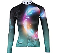 PaladinSport Women's Aperture Spring and Summer Style 100% Polyester  Long Sleeved Cycling Jersey