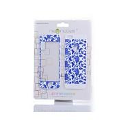LR-0833 Hartglas-Schutzfolie, blauen und weißen Porzellan-Design für iPhone 5 / 5s