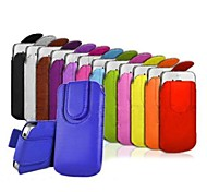 Magnet Buckle Rope PU Leather Pouch Cover for  iPhone 6(Assorted Colors)