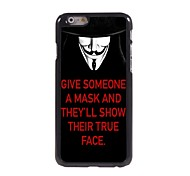 Unique Mask Design Aluminum Hard Case for iPhone 6