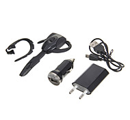 PS3 Bluetooth Headset Headphone & USB Cable & EU Adapter & Car Charger