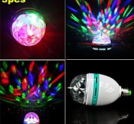 3W E26/E27 Spot LED / Lampe LED de Scène A60(A19) 1 LED Haute Puissance 300-400 lm RGB Décorative AC 85-265 V 3 pièces