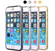 Luxury Style Diamond Hard Bumper Frame Case for iPhone 6(Assorted Colors)