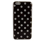 Black Dots Plastic Hard Back Cover for iPhone 6