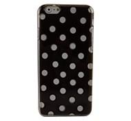 puntos negros tapa dura de plástico para el iphone 6