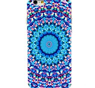 The Blue Ring Flower Pattern TPU Soft Case for iPhone 6