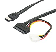 "0.5m 1.5ft ESATAp Power ESATA Combo to SATA 22pin & IDE 4pin 5V 12V for 3.5"" 2.5"" Hard Disk Data Cable"