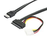 "0.5m 1.5ft eSATAp Power eSATA-Combo zu SATA 22pin&ide 4pin 12v 5v für 3,5 ""2,5"" Festplatte Datenkabel"