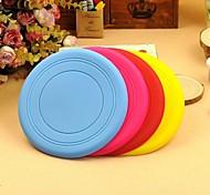товаров для домашних животных силиконовые игрушки летающие диски собака жевать игрушки случайный цвет