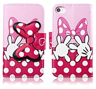 Pink Bowknot Pattern Full Body Case with Stand for iPhone 4/4S