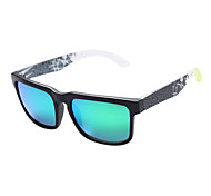 Sunglasses Men / Women / Unisex's Fashion / Polarized Rectangle Black Sunglasses Full-Rim