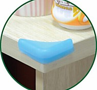 4PCS Delicate Elastic Rubber Material Table Angle Corner Bumpers (Random Color)
