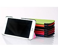 8 Inch Three Folding Pattern  PU Leather Case with Stand  for MeMO Pad 8(ME581C)(Assorted Colors)
