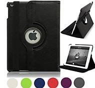 Natusun™ 360 Degree Rotating PU Leather Covered include Back Case Full Body Casel for iPad Mini 3(Assorted Colors)
