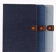 9.7 Inch Two Folding Pattern Denim Fabric Leather Case for iPad Air 2(Assorted Colors)