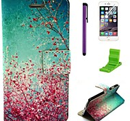 Autumn Leaves Pattern PU Leather Case with Screen Protector,Stylus and Stand for iPhone 6