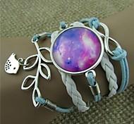 oiseaux de la série étoiles olive multicouches bracelets en cuir d'emballage