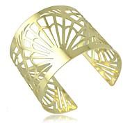 Mode vertraglich punk goldenen Fan hohle Armbandarmbänder