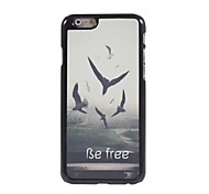 Be Free Pattern Aluminum Hard Case for iPhone 6