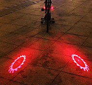 UNGROL 2 Red Flame Wheels Design 1 Laser Module 6 LED 6 Flash Mode Black Bike Warning Laser Light