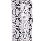 Schlangenhaut Muster Wallet Card Slot magnetischen Flip Stand PC + PU-Leder Etui für iphone 6s 6 Plus