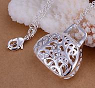 Charming Silver Handbag Shape Women's Pendents