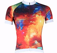 PALADIN Bike/Cycling Tops Men's Short Sleeve Breathable / Ultraviolet Resistant / Quick Dry 100% Polyester Nature & Landscapes RedS / M /
