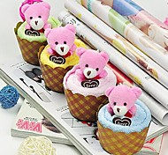 Birthday Gift Cake Shape Fiber Creative Towel (Random Color)