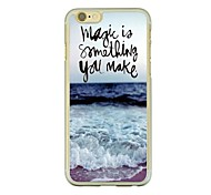 Ocean Waves Leather Vein Pattern PC Hard Case for iPhone 6