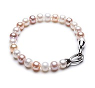 BRI.R® Fashion 6.5-7mm Natural Pearl Mixed Color  Bracelet